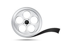 Film Reel. Film/ Show reel illustration on white background Stock Photo