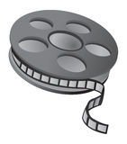 Film reel. Over white background stock illustration
