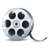 Film Reel. Vector illustration of film reel against white royalty free illustration