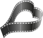Film reel. Heart shape film reel -  illustration Royalty Free Stock Photos