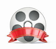 Film reel. On a white background Royalty Free Stock Photography