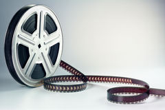 Film reel. Old motion picture film reel Royalty Free Stock Image