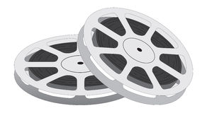 Film reel. Over white background Royalty Free Stock Image