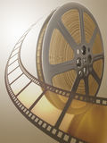 Film Reel. Concept of Industry cinematographic stock illustration