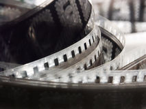 Film reel. Portion of movie film reel Stock Photos