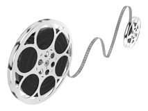 Film reel. A computer generated image of two film reel over a white background Royalty Free Stock Photography