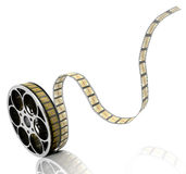 Film reel. 3D render of a film reel Royalty Free Stock Images