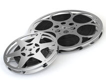 Film reel. A computer generated image of two film reel over a white background vector illustration