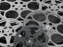 Film reel. A computer generated image of many film reel - Cinema industry concept royalty free illustration
