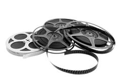 Film reel. On a white background Royalty Free Stock Images