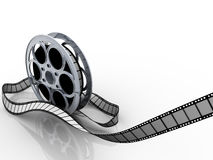Film reel. Isolated on white - 3d illustration Stock Images
