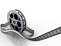 Film reel. Isolated on white - 3d illustration Stock Images