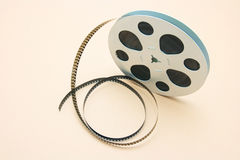 Film Reel. On Seamless Warm Background Stock Images