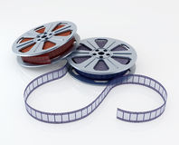 Film reel. Cinema film reels on white (3d render Royalty Free Stock Photos