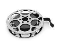 Film reel. 3d illustration of film reel over white background Royalty Free Stock Images