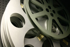 Film reel. Two film reel in a background Royalty Free Stock Image