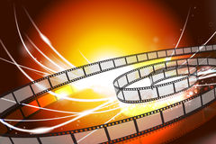 Film Reel on Abstract Modern Light Background. 