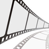 Film reel angle Royalty Free Stock Photography