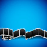 Film reel background. Abstract background with film reel. EPS10 Stock Photography