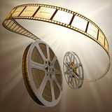Film Reel Backlight. Concept of Industry cinematographic royalty free illustration