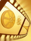 Film Reel Backlight. Concept of Industry cinematographic stock illustration