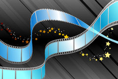 Film Reel on Black Background. 
