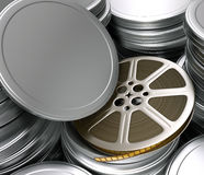 Film Reel (Boxes). Chrome boxes of film reel. You can put your title of movie, text and the logotype on the cover royalty free illustration