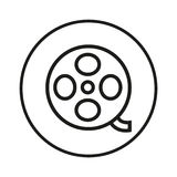 Film reel button Royalty Free Stock Image