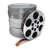 Film reel and canisters Royalty Free Stock Photo