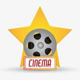 Film reel cinema and movie design. Film reel icon. Cinema movie video film and entertainment theme. Colorful design. Vector illustration Royalty Free Stock Image