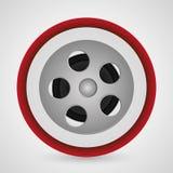 Film reel cinema and movie design. Film reel icon. Cinema movie video film and entertainment theme. Colorful design. Vector illustration Stock Image