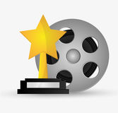 Film reel cinema and movie design Royalty Free Stock Images