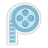 Film reel cinema video tape cut line. Illustration eps 10 Royalty Free Stock Photography