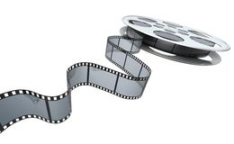 Film reel. Clipping path included royalty free illustration
