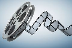 Film reel. Clipping path included stock illustration