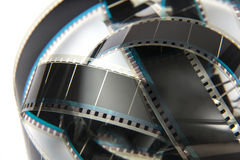 Film reel. Close up film reel detail Royalty Free Stock Photos