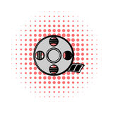 Film reel comics icon. On a white background Stock Images