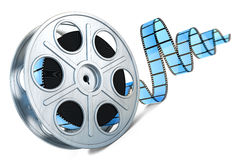Film reel. 3D image. Film reel on white background stock illustration