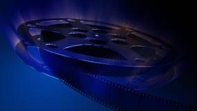 Film reel.Dark blue
