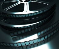 Film Reel (Dark Room) Stock Image