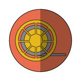 film reel design. Film reel icon. Cinema movie video film and media theme.  design. Vector illustration Royalty Free Stock Image