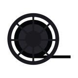 film reel design. Film reel icon. Cinema movie video film and media theme.  design. Vector illustration Royalty Free Stock Photos