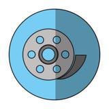 film reel design. Film reel icon. Cinema movie video film and media theme.  design. Vector illustration Stock Photography