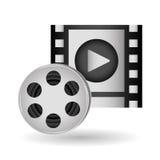 Film reel design , vector illustration. Movie concept with icon design, vector illustration 10 eps graphic Royalty Free Stock Photo