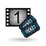 Film reel design , vector illustration. Movie concept with icon design, vector illustration 10 eps graphic Stock Images