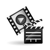 Film reel design , vector illustration Royalty Free Stock Photos