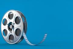 Film reel. Isolated on blue background. 3d illustration vector illustration