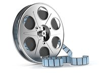 Film reel. Isolated on white background Royalty Free Stock Image