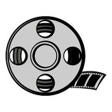 Film reel icon cartoon. Film reel icon in cartoon style isolated vector illustration Royalty Free Stock Photo