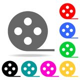 Film reel icon. Elements in multi colored icons for mobile concept and web apps. Icons for website design and development, app dev. Elopment on white background Royalty Free Stock Photography
